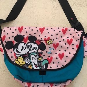 Disney Girl's Mickey & Minnie Mouse Messenger Bag